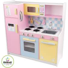 cuisine en bois jouet pas cher kidkraft cuisine enfant en bois large pastel achat vente dinette