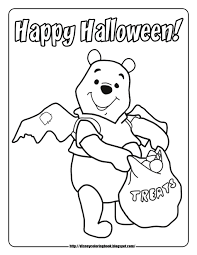 disney halloween printables trick or treat coloring pages getcoloringpages com