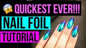 quickest nail foil tutorial ever oil slick mirror metallic
