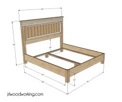 How To Make A Queen Size Bed Frame Bed Frames Diy Platform Bed Plans Ana White Farmhouse Bed Twin