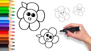 learn how to draw flowers teach drawing for kids and toddlers