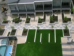 commercial landscape architecture modern geometric style