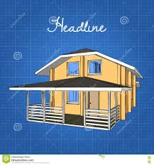 Gambrell Roof A Large Wooden House With A Porch And A Gambrel Roof Stock Vector