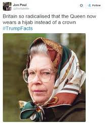 Queen Of England Meme - donald trumps comments about london sees trumpfacts trend on