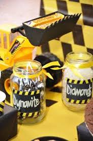 Construction Themed Centerpieces by Mining Construction Themed 3rd Birthday Party Boy Birthday