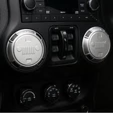 jeep rubicon white interior 4pcs 2016 newest car air vent trim cover interior moldings