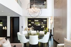 black and white dining room fabulous dining room ceiling idea with artsy downlight above