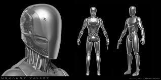 artstation robot design for uncanny valley sci fi short film