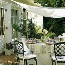Outdoor Awning Fabric 20 Diy Outdoor Curtains Sunshades And Canopy Designs For Summer