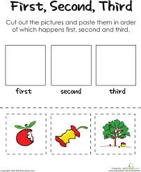 first second third an apple a day kindergarten reading