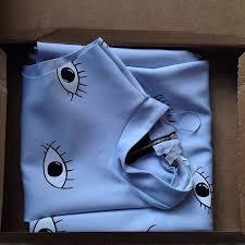 shirt big eyes blue shirt clothes dress blue eyes