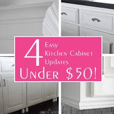 Kitchen Cabinet Updates Round Up 4 Easy Kitchen Cabinet Updates Under 40 The Rozy Home