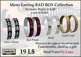 boy earrings second marketplace bad boy earrings for men