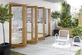 Wooden Bifold Patio Doors Kitchen Awesome Wooden Folding Patio Doors Design The Function