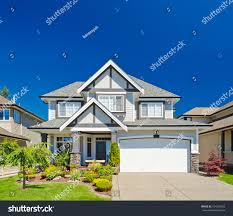 luxury house sunny day vancouver canada stock photo 124218352