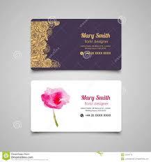 floral business card florist business card vector design templates set stock vector