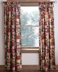 unique curtains mainstays tahoe cabin printed valance and