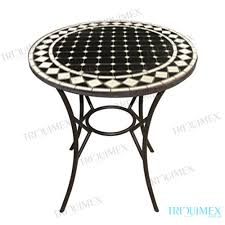 Mosaic Bistro Table Wrought Iron And Mosaic Bistro Table With Pedestal Base
