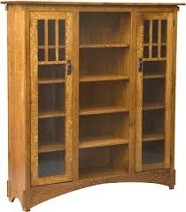 mission display bookcase with seedy glass amish bookcase