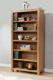 Contemporary Oak Bookcase Milano Oak Tall Large Bookcase Oak Furniture Solutions