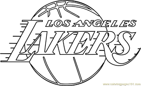 nba lakers coloring pages los angeles lakers coloring page free nba coloring pages