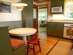 Green Kitchen Design Ideas Kitchen Extraordinary White Round Pedestal Breakfast Table And