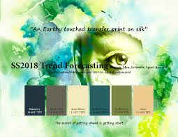 spring summer 2018 trend forecasting is a trend color guide that