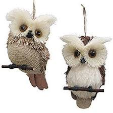 owl ornaments stuff with animals