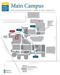 emergency room floor plan directions u0026 parking midland health