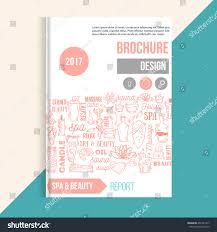 wellness spa brochure template hand drawn stock vector 461281417