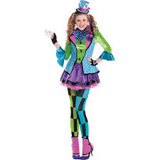 diy halloween costumes for teenage girls teen sassy mad hatter costume age 10 12 years amscan amazon co