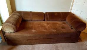 Corduroy Sofa Bed 1060s 1970s Retro Brown Corduroy Single To Double Sofa Bed Sofabed