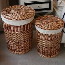 espresso laundry hamper wicker laundry hamper with lid color u2014 sierra laundry tidy with