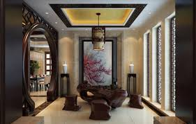 interior classic old style chinese style tea room interior
