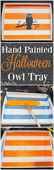 painted halloween owl tray diy the graphics fairy