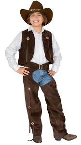 cowgirl halloween costume kids boys chaps and vest cowboy kids costume mr costumes