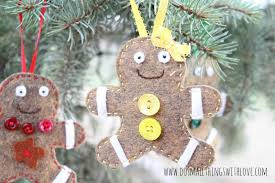 felt gingerbread ornaments do small things with