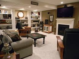 movie room media room decorating idea in family room with wall