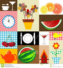 Kitchen Table Cloth Design Stock Photography Image - Table cloth design