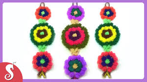 wall hanging from woolen diy wall decor ideas youtube