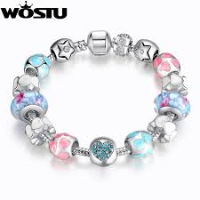 european beads bracelet images Bamoer hot sell european style silver crystal charm bracelet for jpg