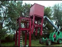 Deer Blind Elevator Brackets 40 U0027 Steel Deer Stand Youtube