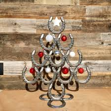 horseshoe christmas ornaments rustic horseshoe christmas tree with and ornaments catch