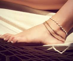 gold ankle bracelet chains images Betsy anklet triple chain anklet foot chain bohemian jpg