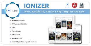 free website templates for android apps ionizer ionic angularjs cordova app template exle by