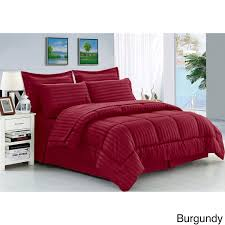 White And Red Comforter 8 Piece Manhattan Lights Collection Bed In A Bag Comforter Set