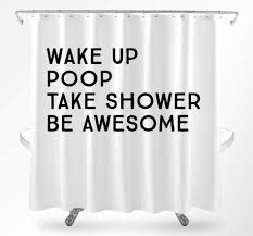 Deer Shower Curtains Funny Shower Curtains Cool Shower Curtains Quote Shower