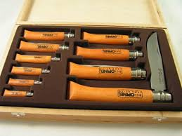 opinel kitchen knives uk opinel 10 collectors knife set made in