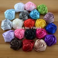 Polyester Flowers - cheap satin fabric flowers headband free shipping satin fabric