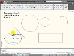 tutorial autocad line autocad tutorial using the stretch command youtube